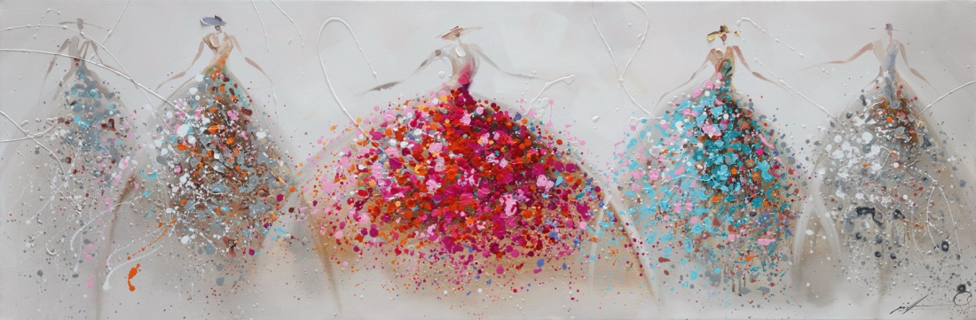 schilderij danseressen 50x150