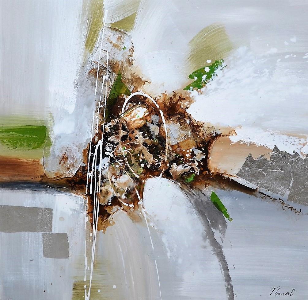 Schilderij abstract 74x74