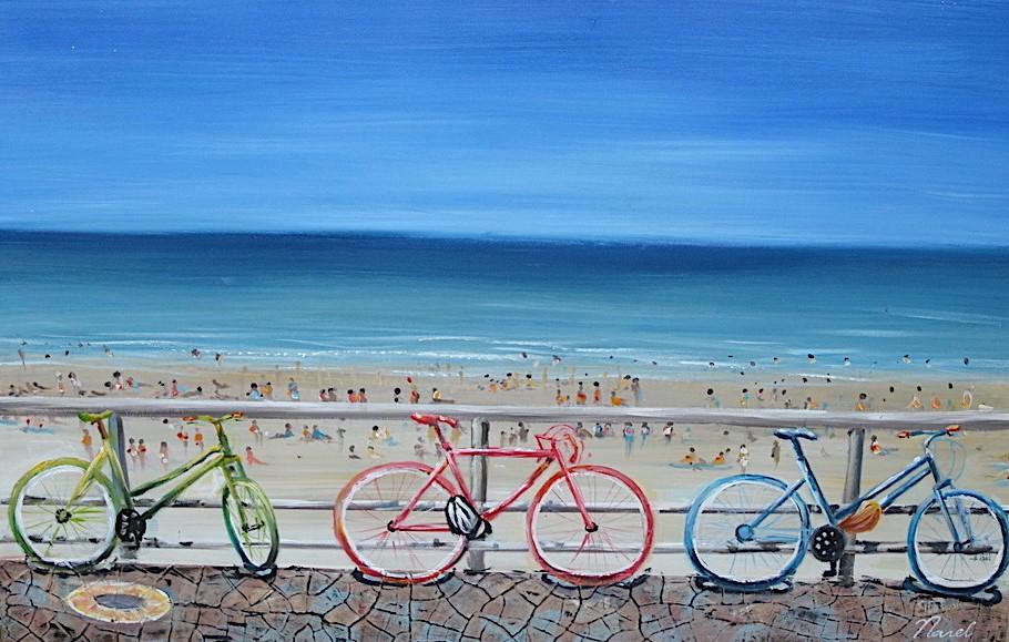 schilderij strand 60x90
