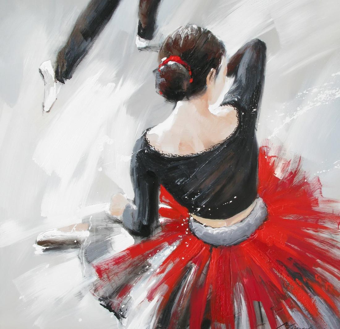 schilderij ballet danseres 100x100