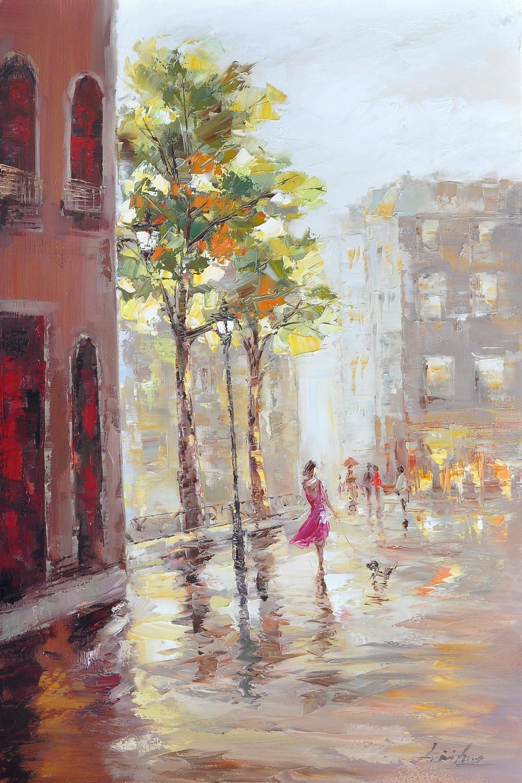 schilderij stadsgezicht 60x90