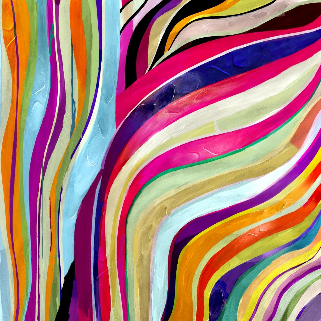 schilderij modern kleurrijk 100x100