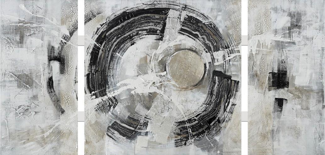 3 luik schilderij modern 70x146
