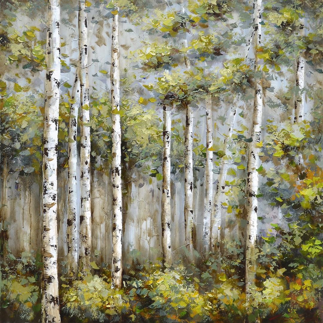 schilderij bomen 100x100