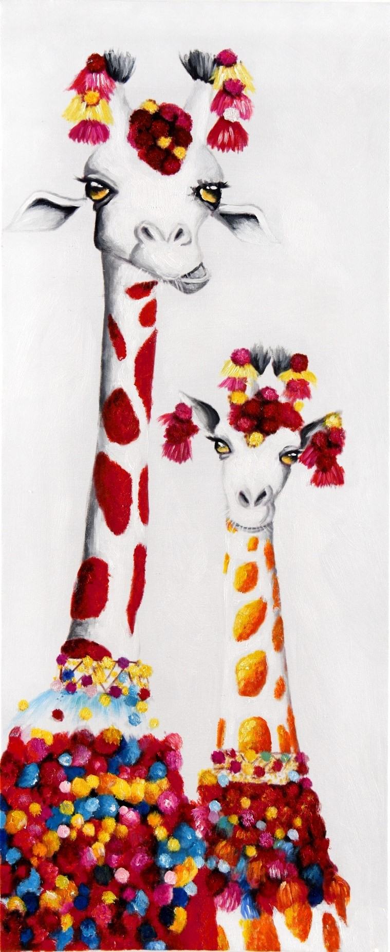 Schilderij giraffen 50x120