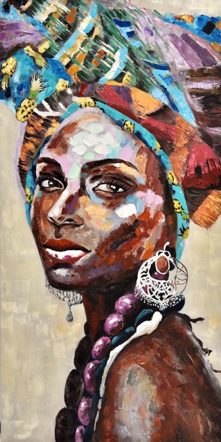 Schilderij vrouw 100x200
