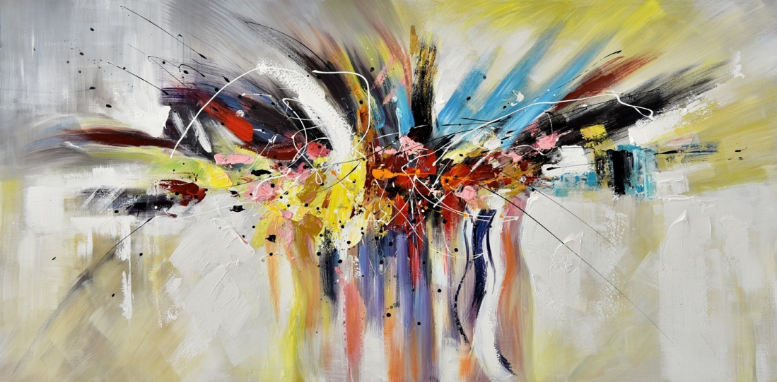 Schilderij abstract 100x200