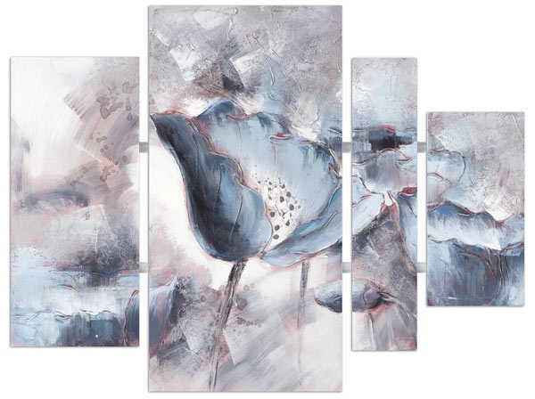 Meerluik schilderij bloemen 120x159