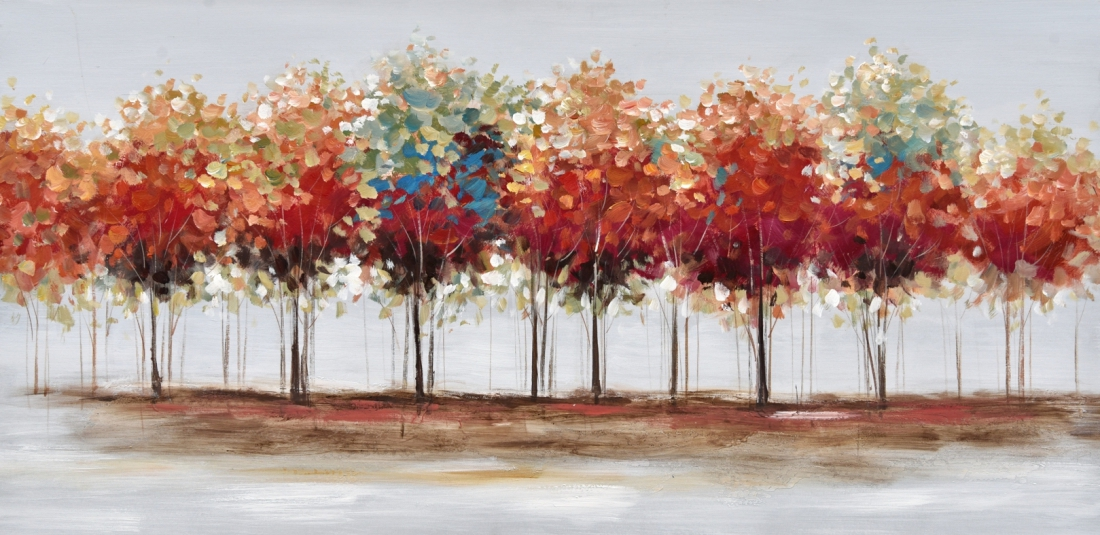 Schilderij bomen 60x120