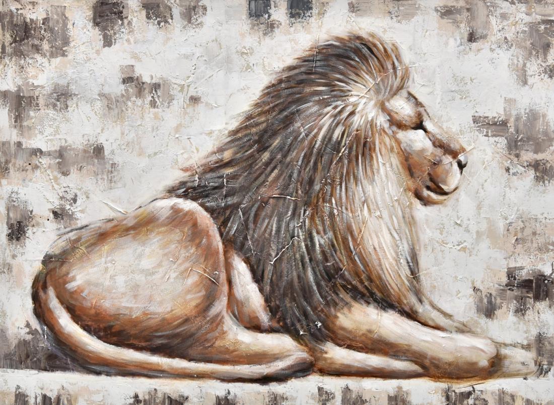 Schilderij leeuw 74x100