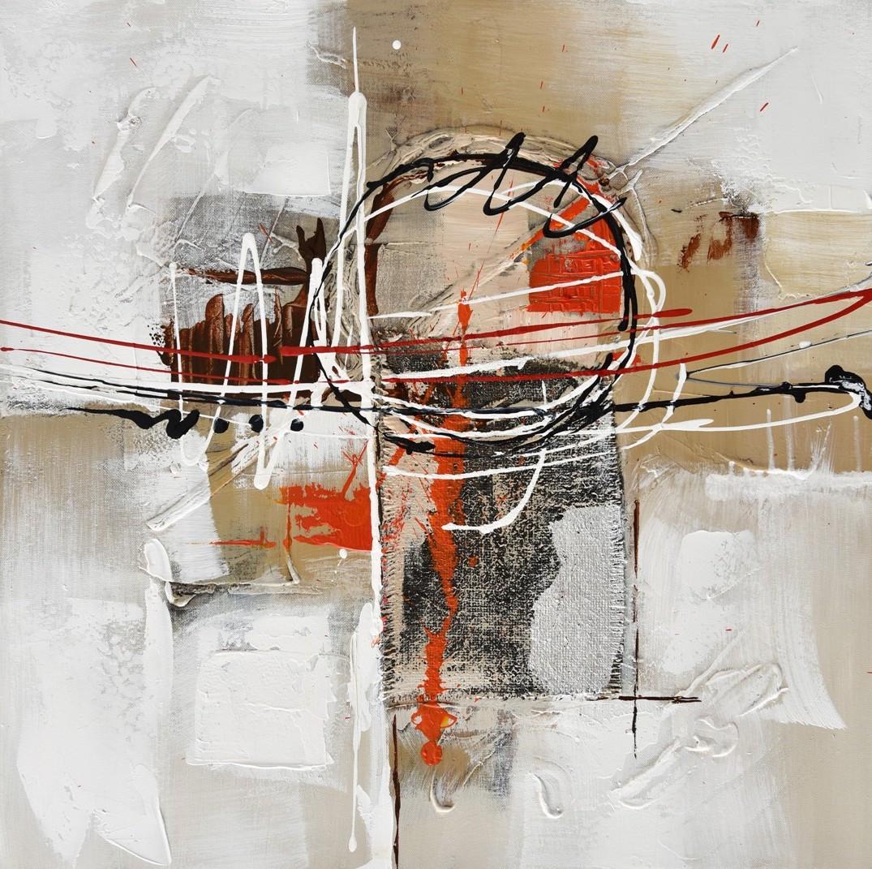 Schilderij abstract III 60x60