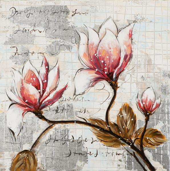 Schilderij flowers 60x60