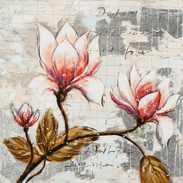 Schilderij flowers II 60x60