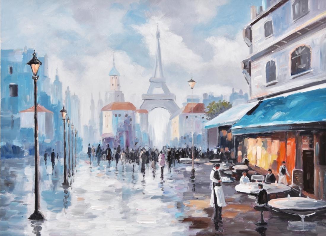 Schilderij stadsgezicht parijs 74x100