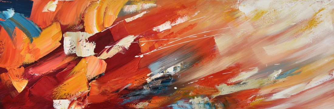 Schilderij abstract 50x150