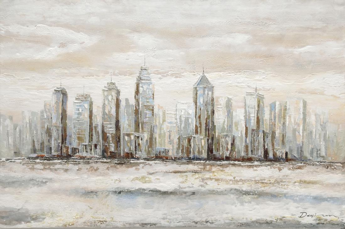 Schilderij skyline 80x120