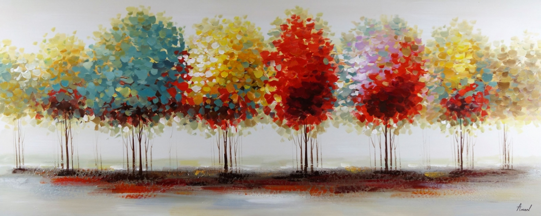 Schilderij bomen 70x170