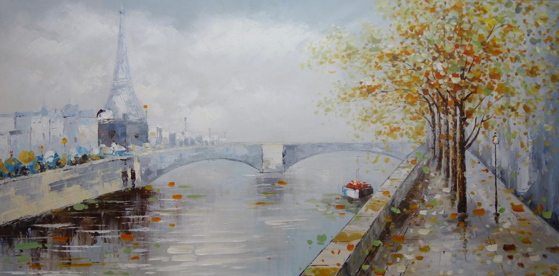 Schilderij stadsgezicht 100x200