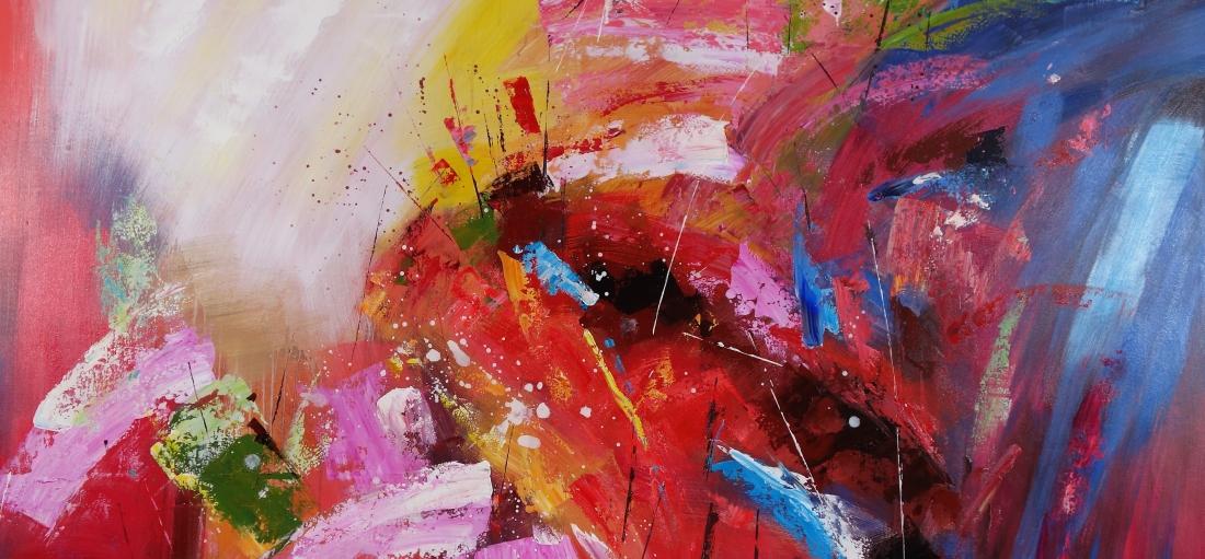 Schilderij abstract 90x190