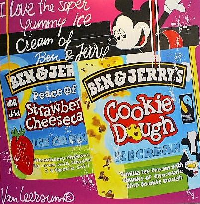 Schilderij Ben & Jerry 100x100