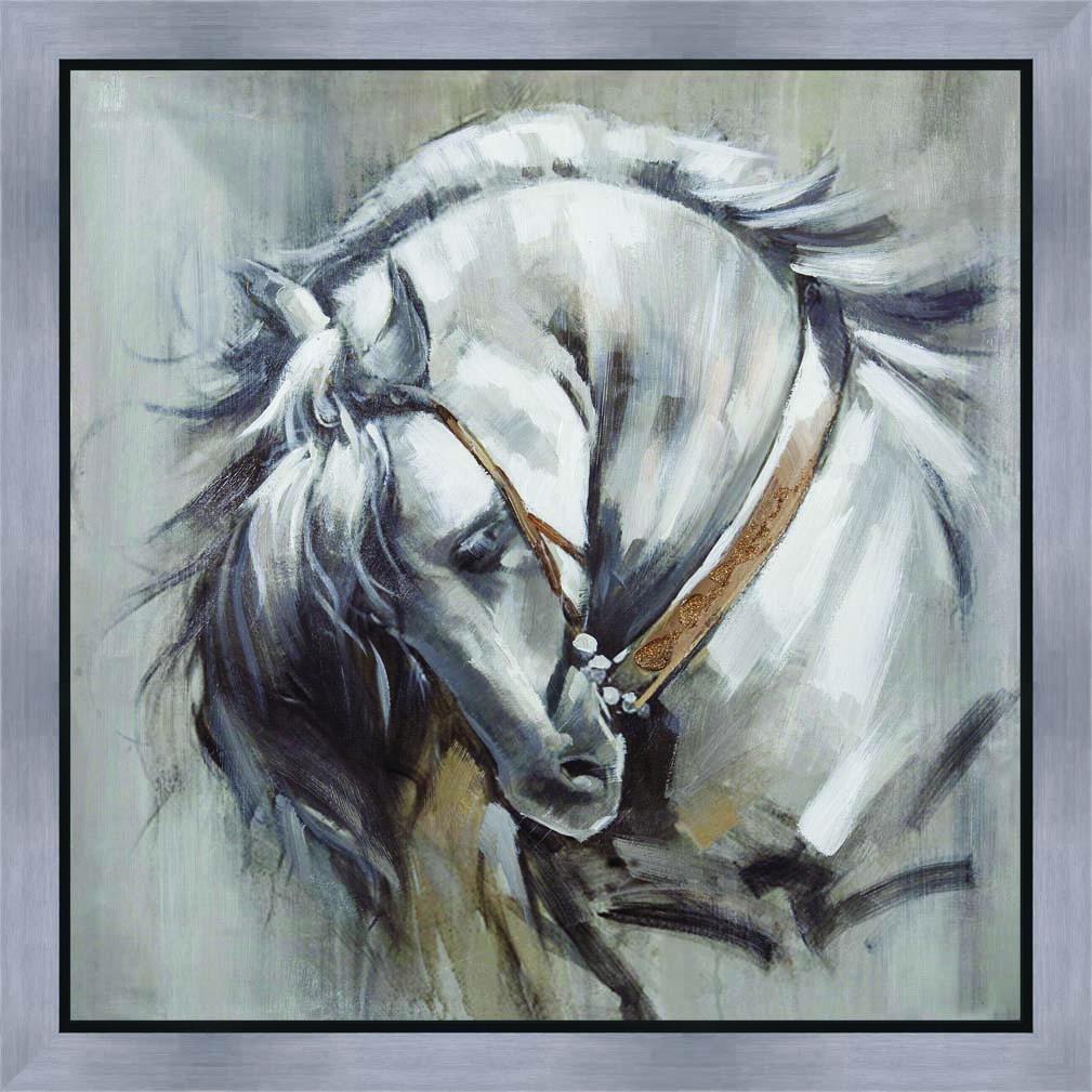 schilderij paard 80x80