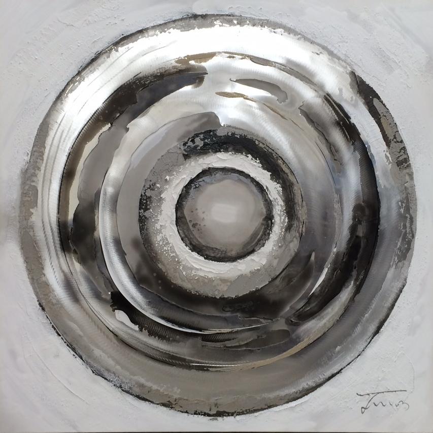 schilderij cirkel 80x80