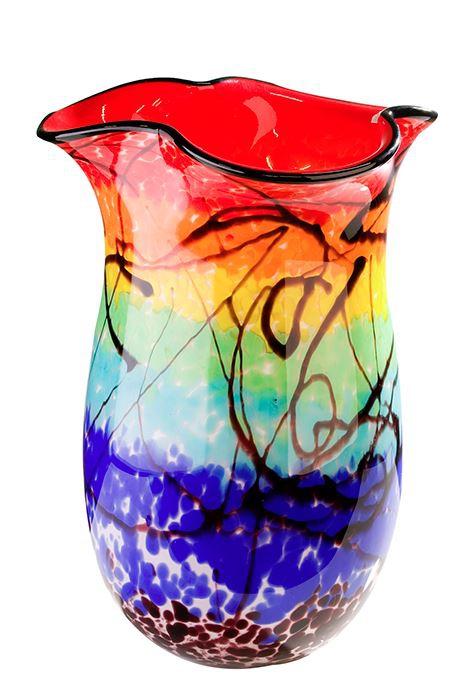 Kunstzinnige vaas glaskunst