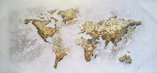 schilderij wereldkaart 70x150