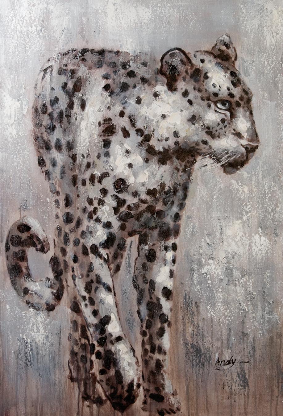 schilderij luipaard 70x100
