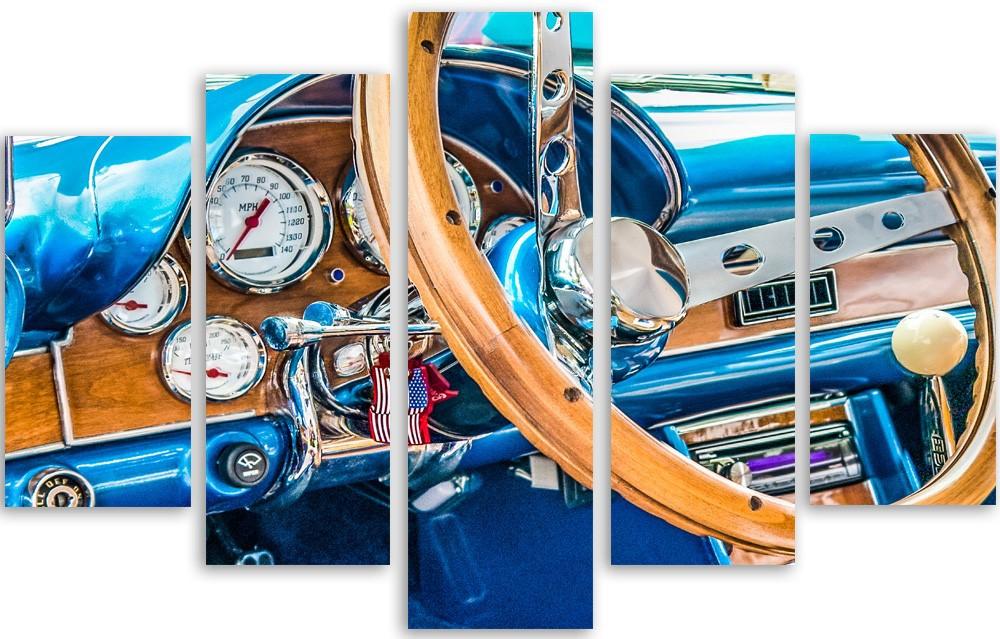 Meerluik fotokunst oldtimer 100x150