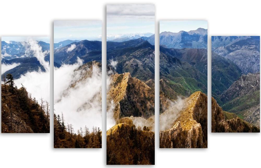 Meerluik schilderij mountains 100x150