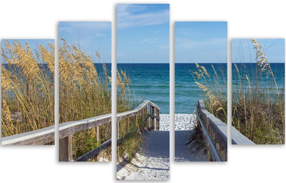 Meerluik schilderij strand 100x150