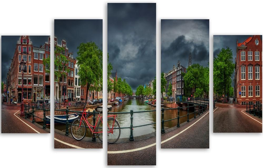 Meerluik schilderij Amsterdam 100x150
