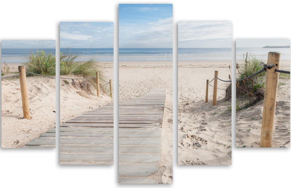Meerluik fotokunst strand en duinen 100x150