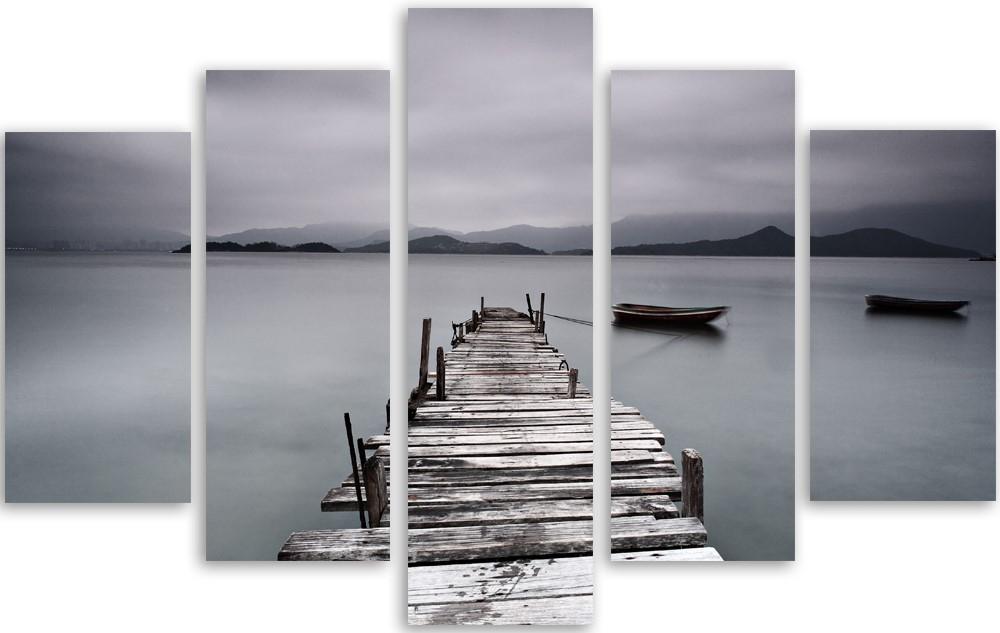 Meerluik fotokunst steiger in meer 100x150