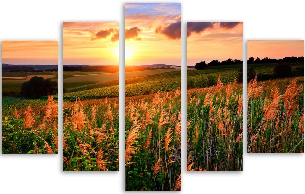 Meerluik schilderij zonsopgang 100x150