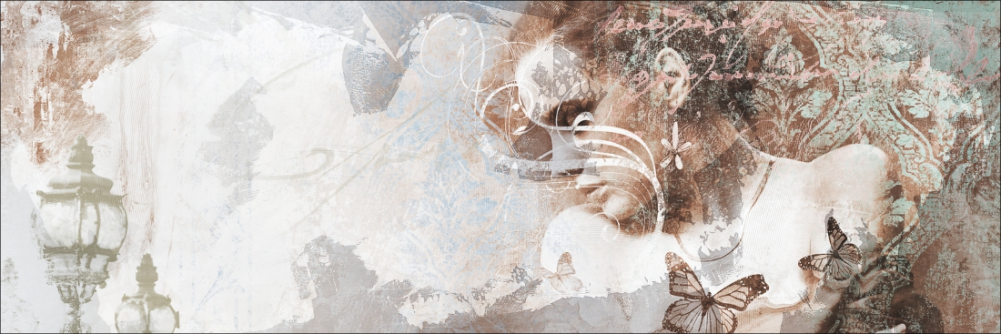 Schilderij vrouw dibond 50x150