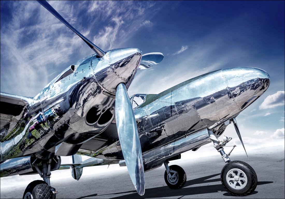 Dibond vliegtuig 70x100