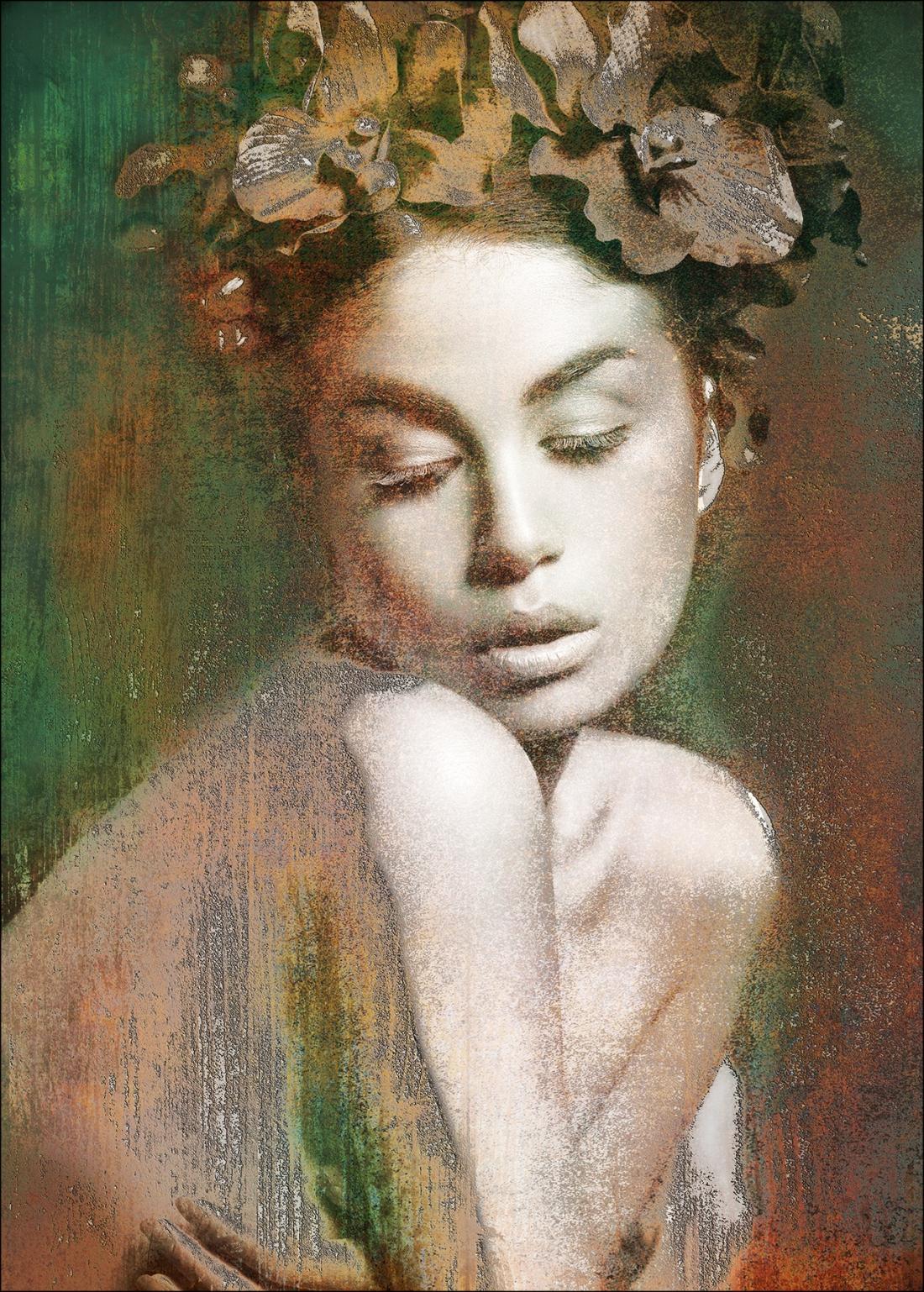 Dibond flowerwoman 100x70