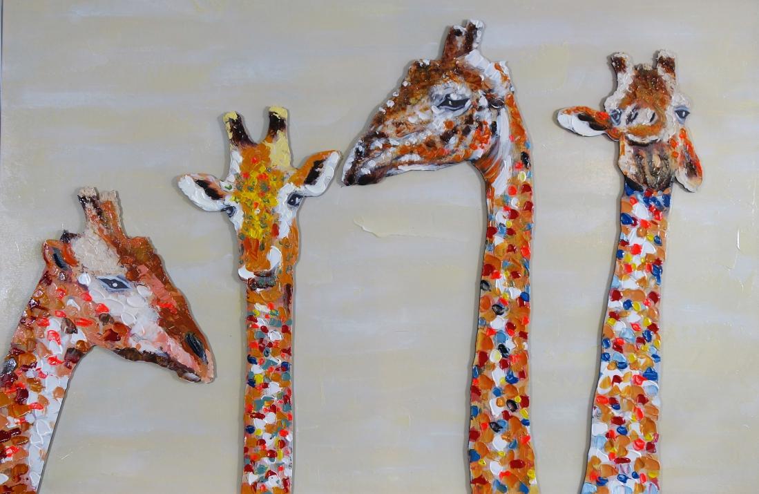 Schilderij giraffen 80x120