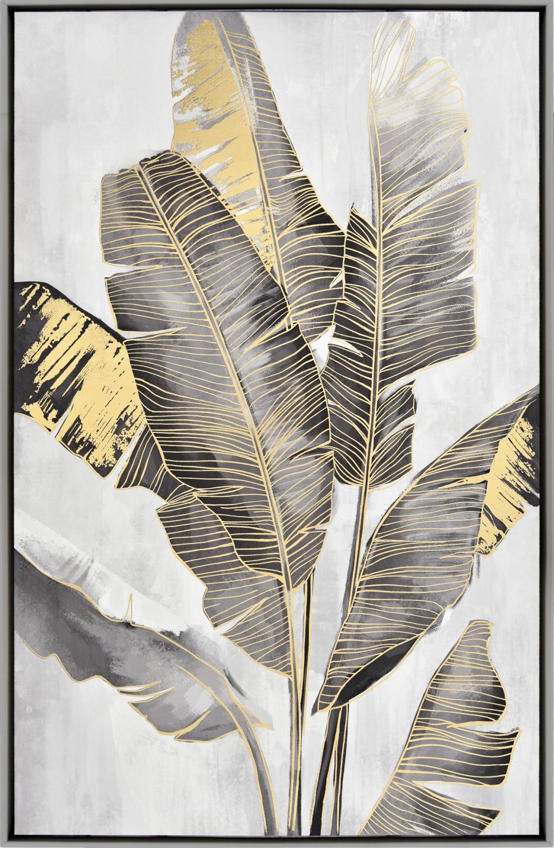 Schilderij bananenbladeren 82x122