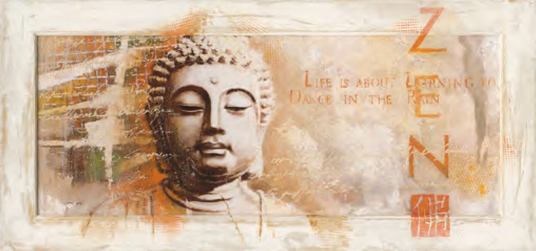 schilderij buddha 55x115