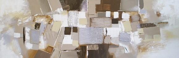 abstract schilderij 60x180
