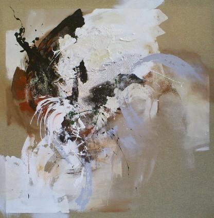 abstract schilderij 100x100