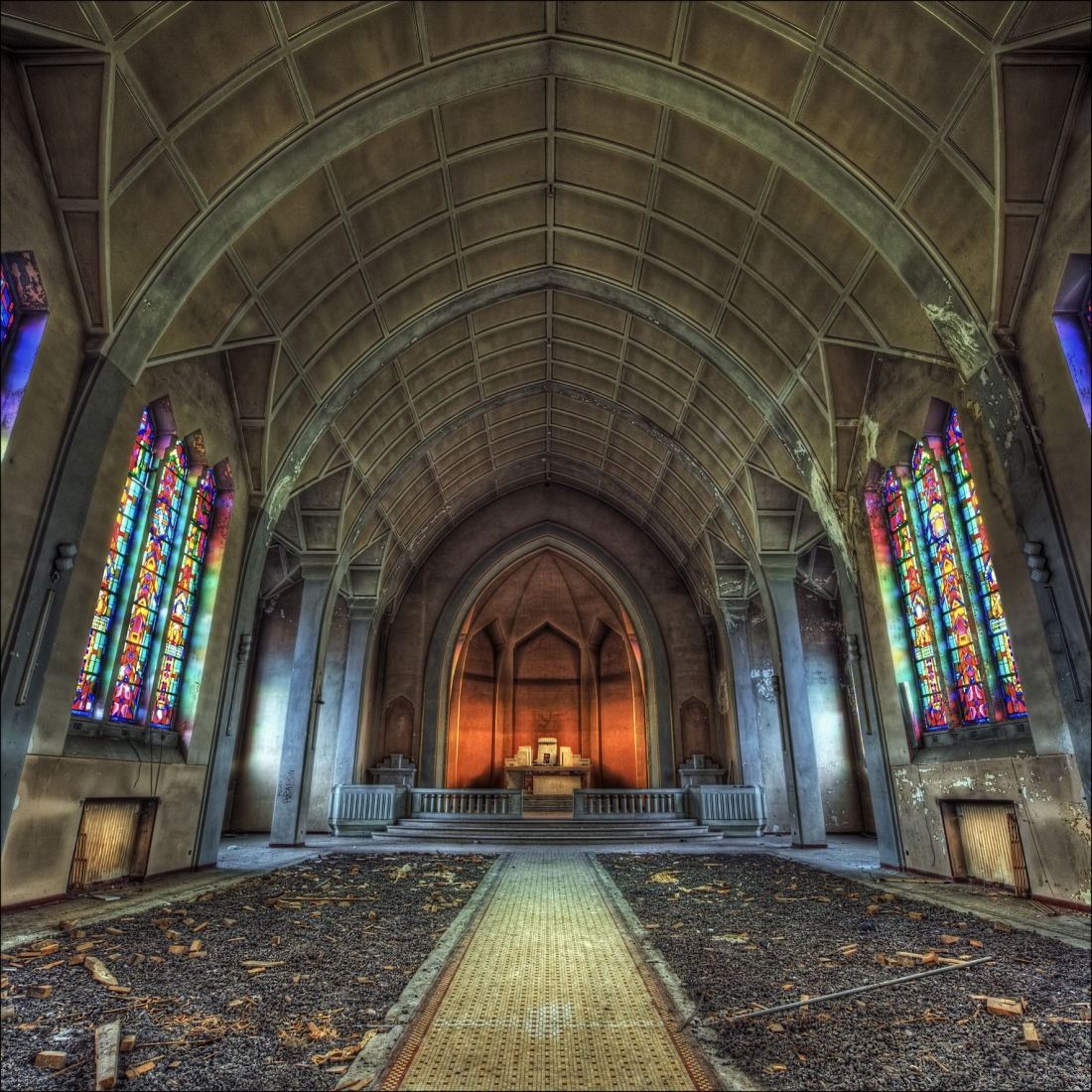 Kerk urback 100x100 plexiglas