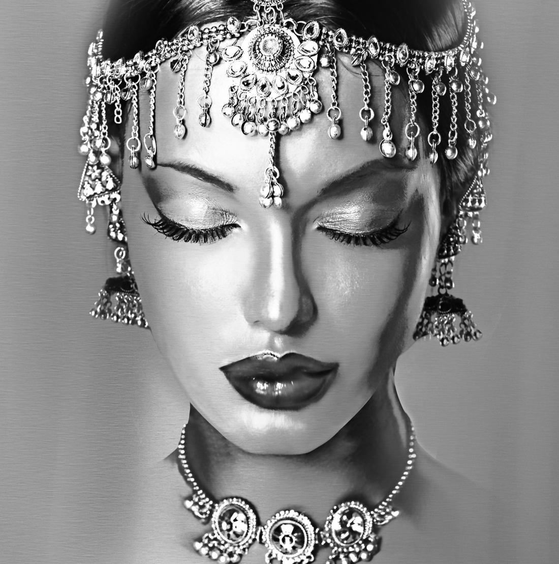 Hindu vrouw dibond 100x100