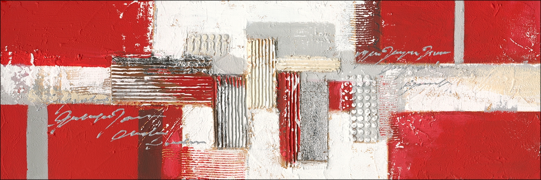 Schilderij abstract 40x120