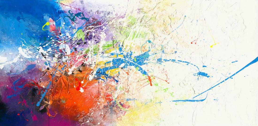 modern kleurrijk 90x180