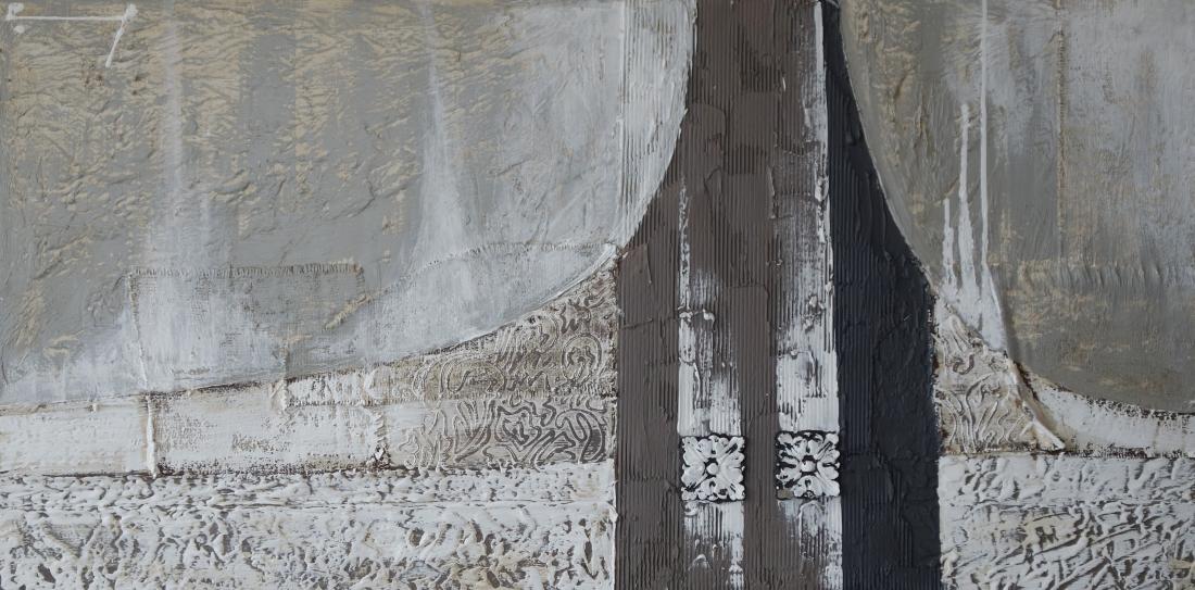 Schilderij abstract 90x180