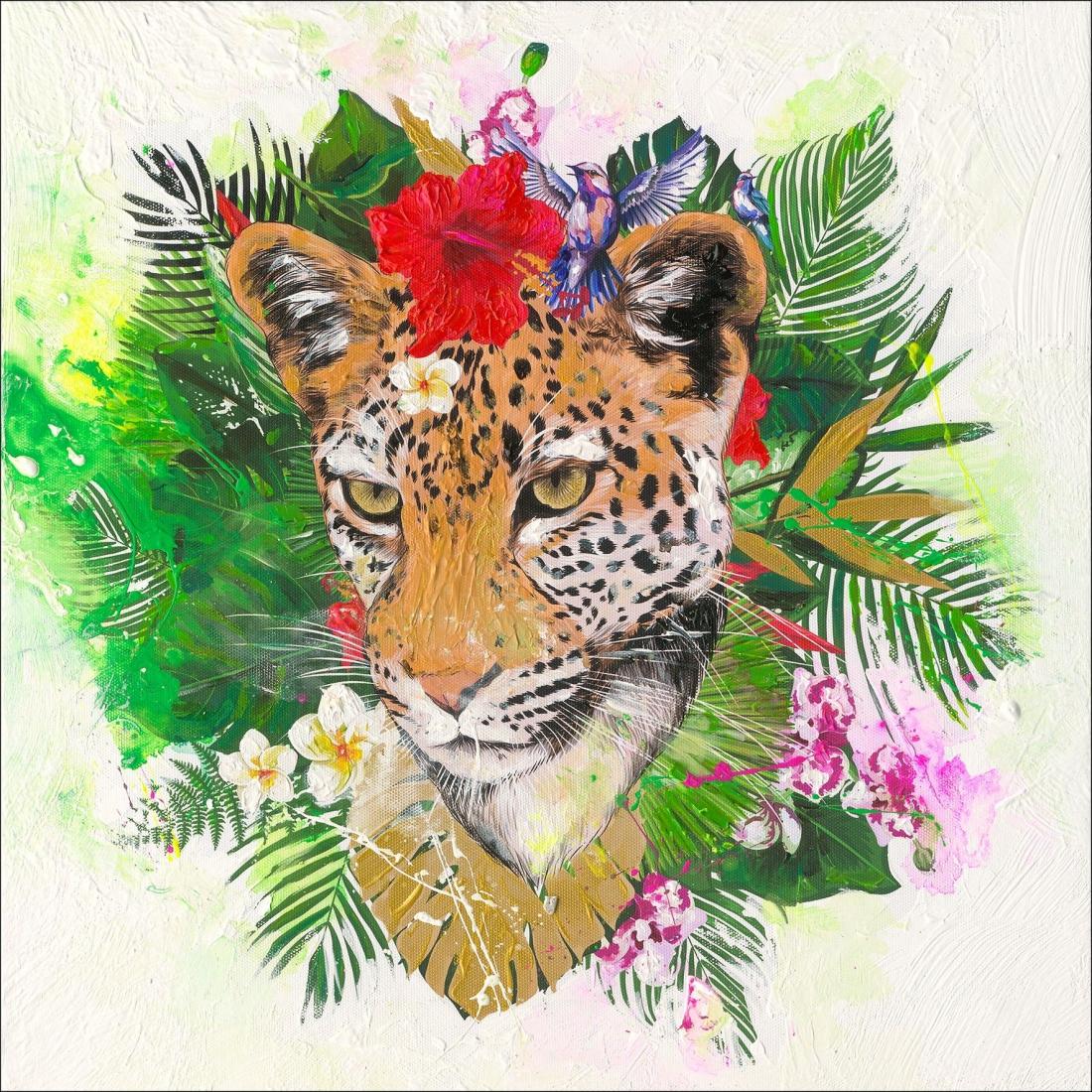 schilderij luipaard 40x40